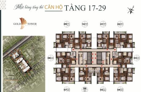 Mặt bằng chung cư Gold Tower 275 Nguyễn Trãi.
