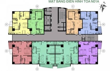 Thiết kế căn hộ tòa N01A và N01B