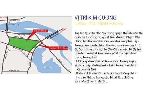 Kết nối giao thông qua chung cư Sunshine City,Khu đô thị Ciputra.